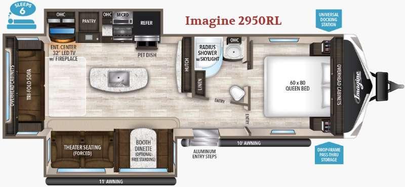 Imagine 2950RL Floorplan Image