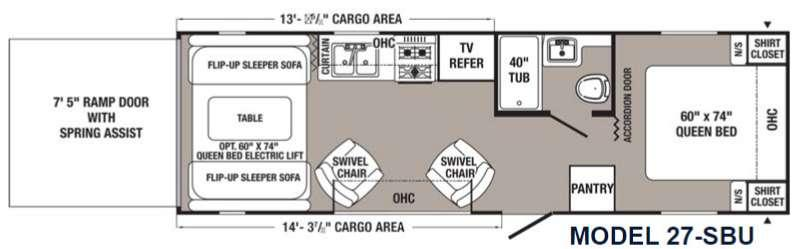 Puma Unleashed 27-SBU Floorplan Image