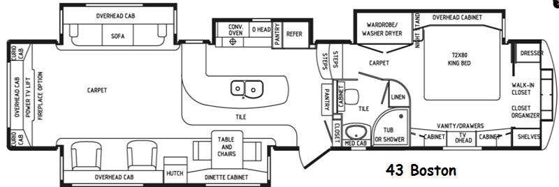 Floorplan - 2017 Elite Suites 43 Boston Fifth Wheel