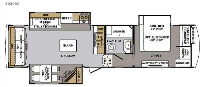 Cardinal 3030RS Floorplan Image