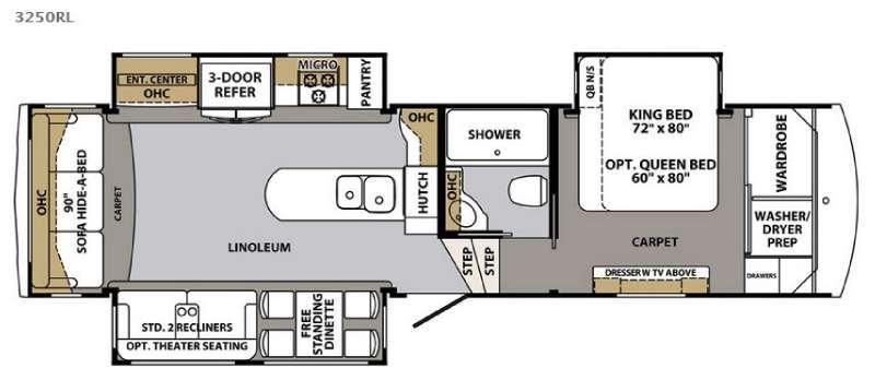 Cardinal 3250RL Floorplan Image