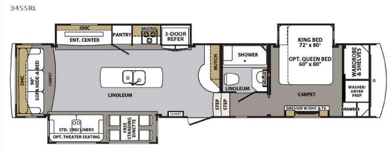 Cardinal 3455RL Floorplan Image
