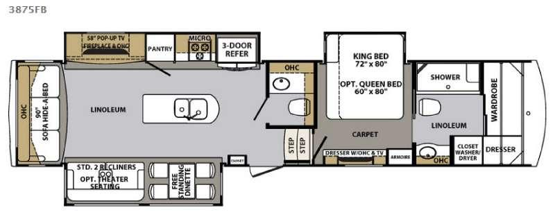 Cardinal 3875FB Floorplan Image