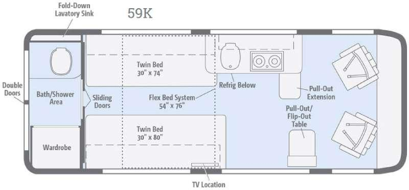 Floorplan - 2017 Winnebago Travato 59K