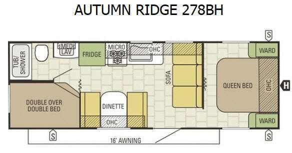 Autumn Ridge 278BH Floorplan Image