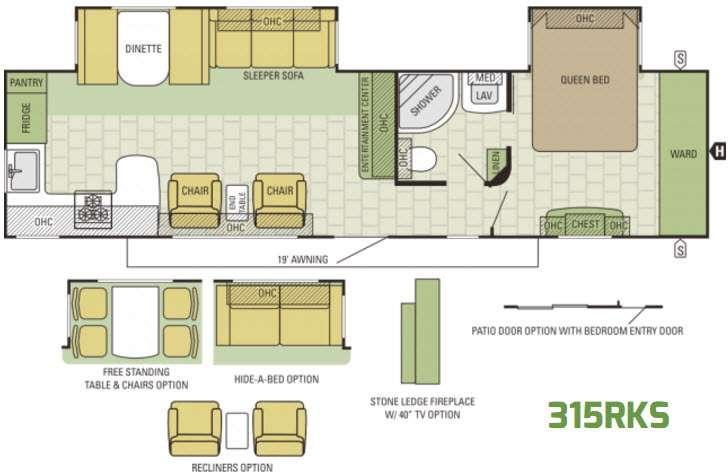 Autumn Ridge 315RKS Floorplan Image