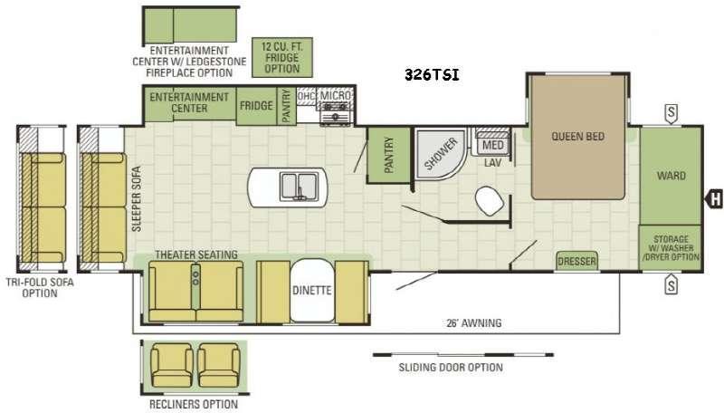 Autumn Ridge 326TSI Floorplan Image