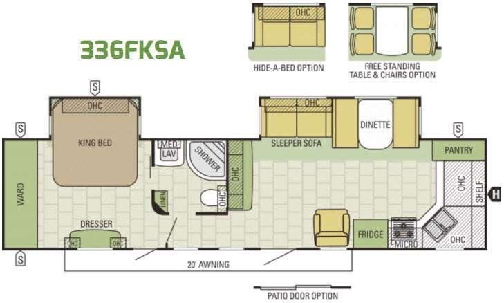 Autumn Ridge 336FKSA Floorplan Image
