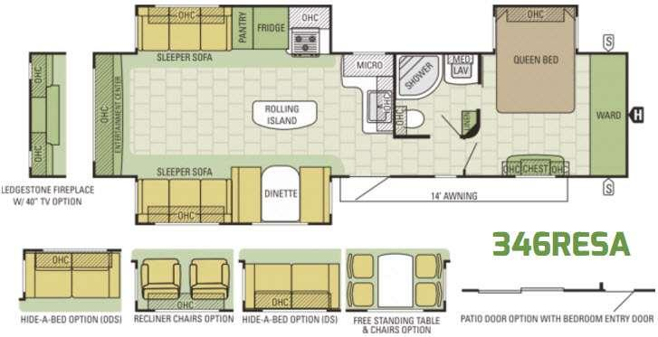 Autumn Ridge 346RESA Floorplan Image