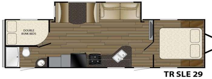 Floorplan - 2017 Heartland Trail Runner SLE 29