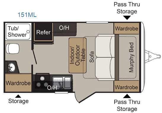 Floorplan - 2017 Keystone RV Passport 151ML Express