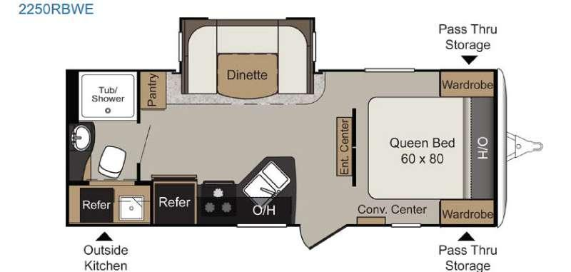Passport 2250RBWE Grand Touring Floorplan Image