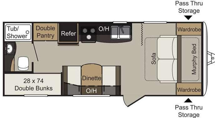 Floorplan - 2017 Keystone RV Passport 238ML Express