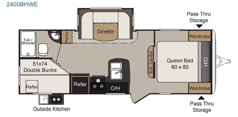 Floorplan - 2017 Keystone RV Passport 2400BHWE Grand Touring