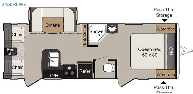 Floorplan - 2017 Keystone RV Passport 2450RLWE Grand Touring