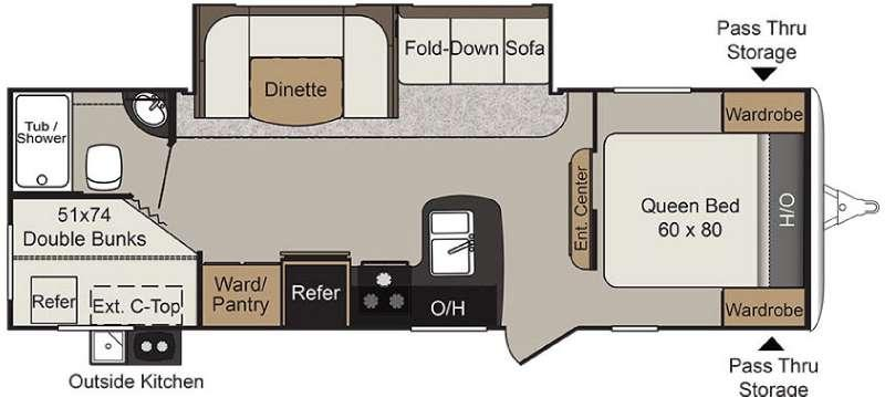 Passport 2670BHWE Grand Touring Floorplan Image