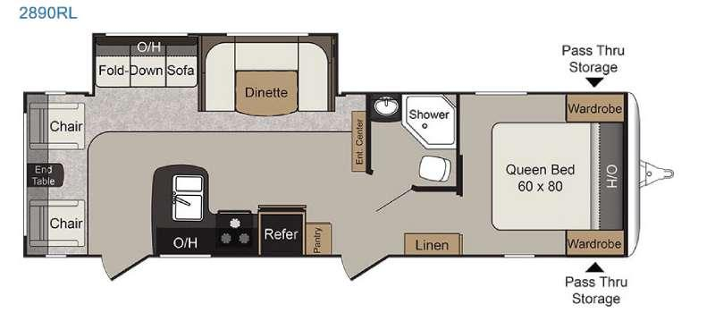 Passport 2890RL Grand Touring Floorplan Image
