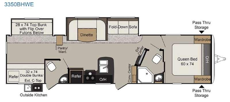 Passport 3350BHWE Grand Touring Floorplan Image