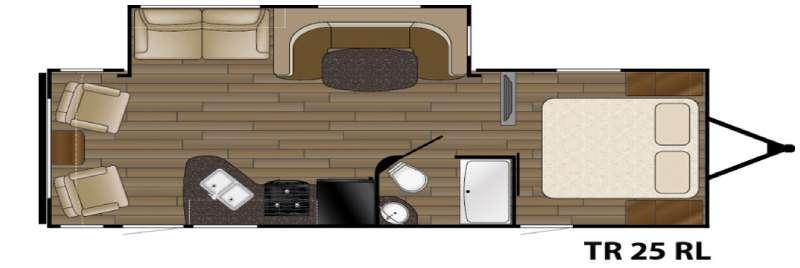 Floorplan - 2017 Heartland Trail Runner 25RL