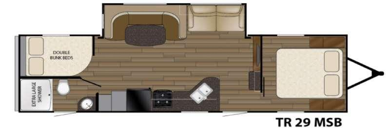 Floorplan - 2017 Heartland Trail Runner 29MSB
