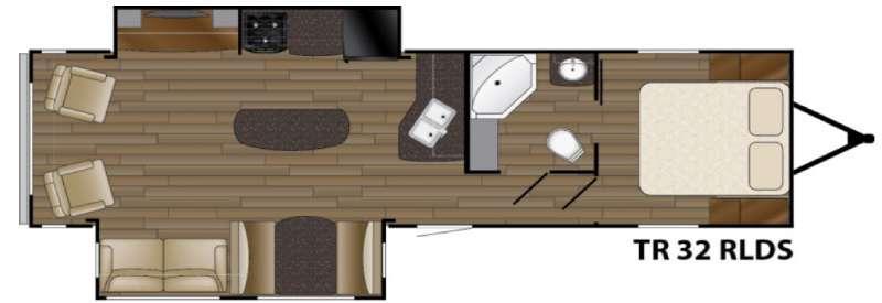Trail Runner 32RLDS Floorplan Image