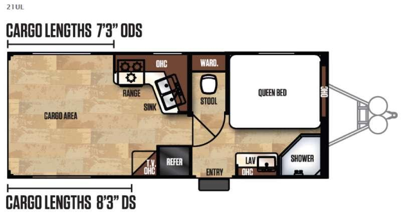Work and Play Ultra Lite 21UL Floorplan Image