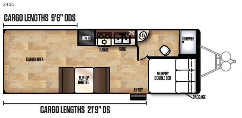 Work and Play Ultra Lite 24UC LE Floorplan Image