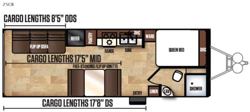 Work and Play Ultra Lite 25CB LE Floorplan Image