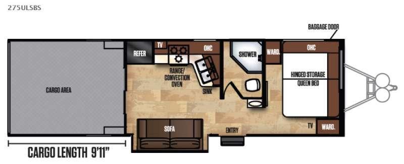 Work and Play Ultra Lite 275ULSBS Floorplan Image