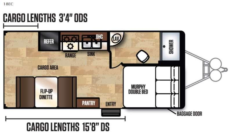 Work and Play FRP Series 18EC Floorplan Image