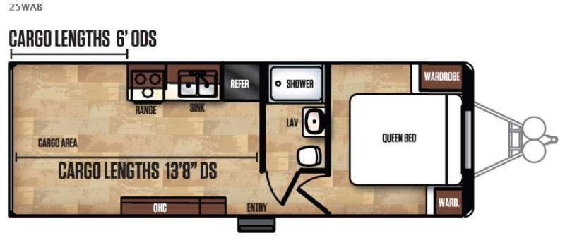 Work and Play FRP Series 25WAB Floorplan Image