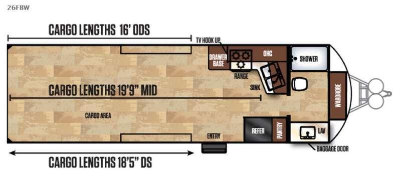 Work and Play FRP Series 26FBW Floorplan Image