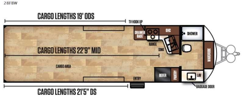 Work and Play FRP Series 28FBW Floorplan Image