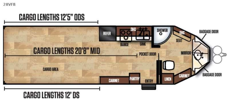 Work and Play FRP Series 28VFB Floorplan Image