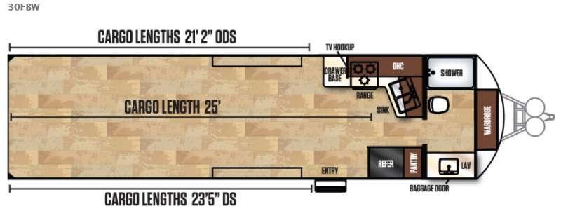 Work and Play FRP Series 30FBW Floorplan Image