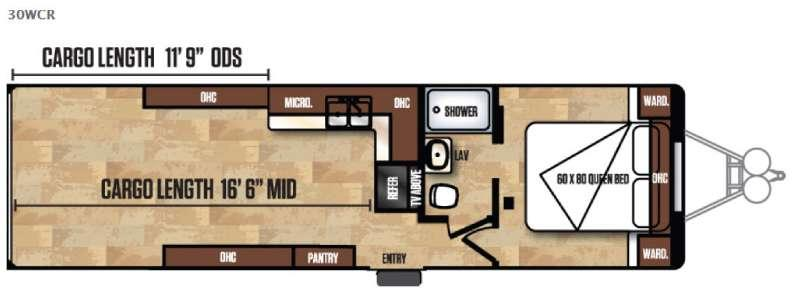 Work and Play FRP Series 30WCR Floorplan Image
