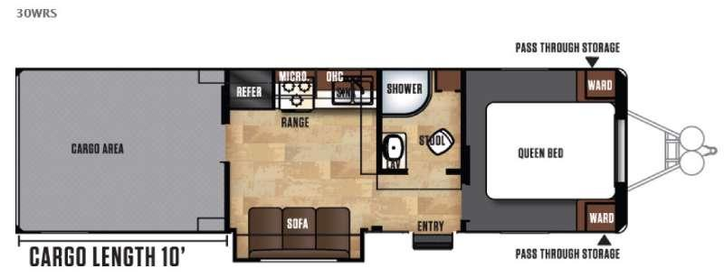 Floorplan - 2017 Forest River RV Work and Play FRP Series 30WRS