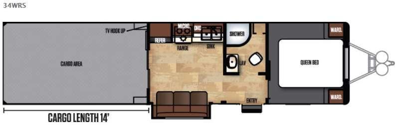 Work and Play FRP Series 34WRS Floorplan Image