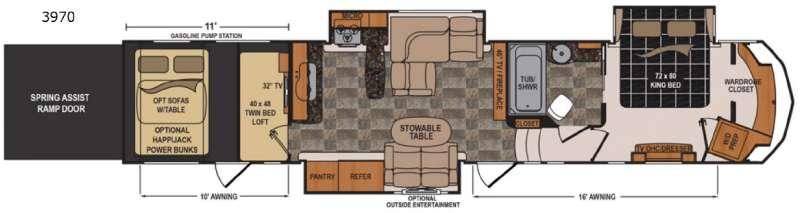 Floorplan - 2017 Dutchmen RV Voltage V3970