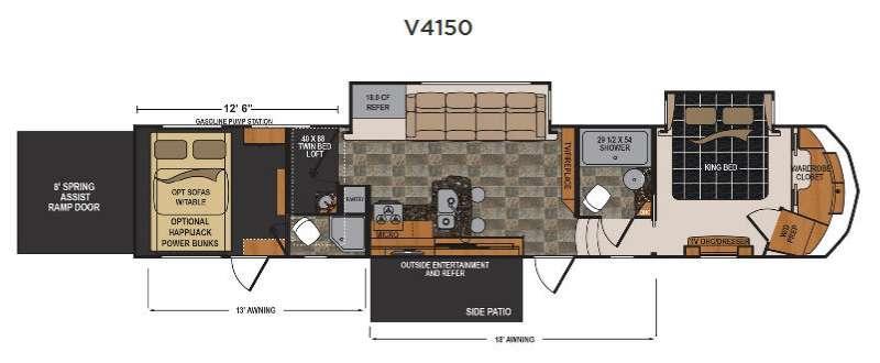Floorplan - 2017 Dutchmen RV Voltage V4150