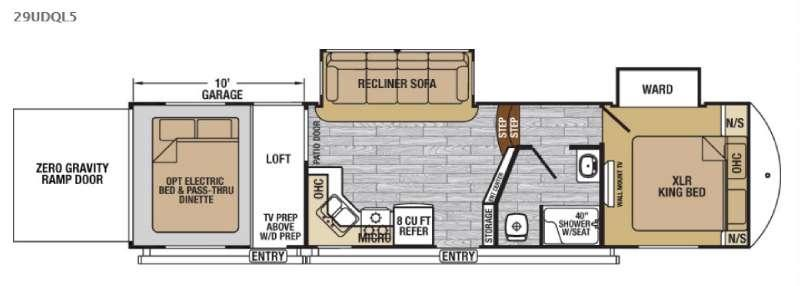 XLR Nitro 29UDQL5 Floorplan Image