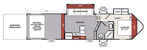 XLR Nitro 305VL5 Floorplan Image