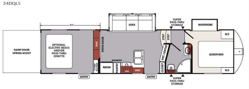 XLR Nitro 34DQL5 Floorplan Image