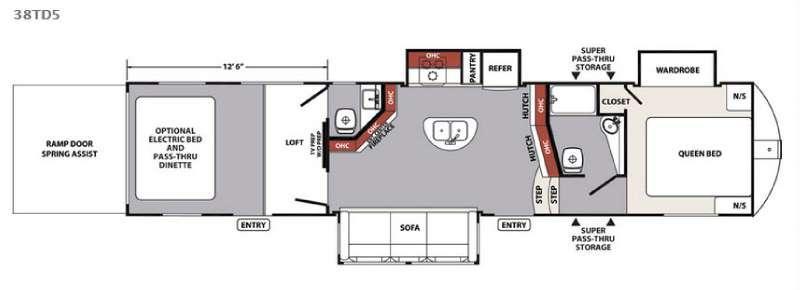 XLR Nitro 38TD5 Floorplan Image