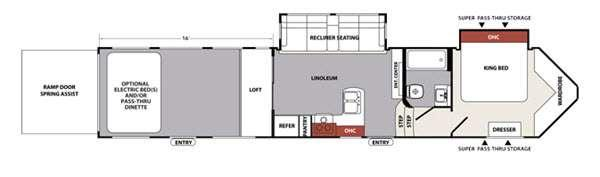 XLR Nitro 39DKS5 Floorplan Image