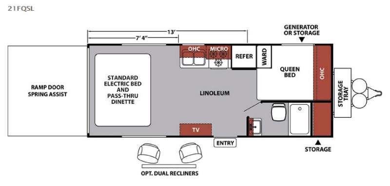 XLR Nitro 21FQSL Floorplan Image