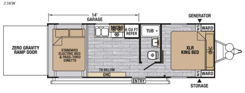 XLR Nitro 23KW Floorplan Image