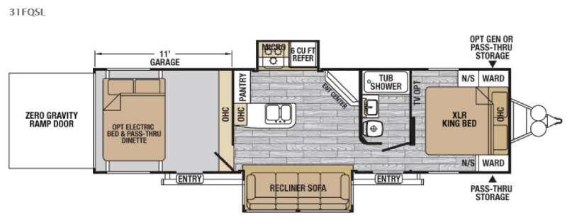 XLR Nitro 31FQSL Floorplan Image