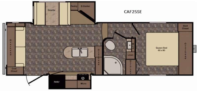 Floorplan - 2017 CrossRoads RV Cruiser Aire CAF25SE