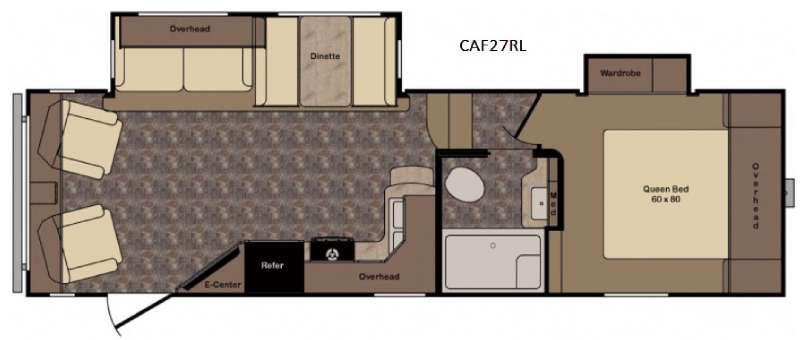 Cruiser Aire CAF27RL Floorplan Image